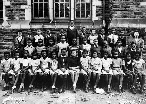 Wilt Chamberlain Would've Turned 77 Yesterday. Here He Is In 4th Grade. Can You Spot Him?