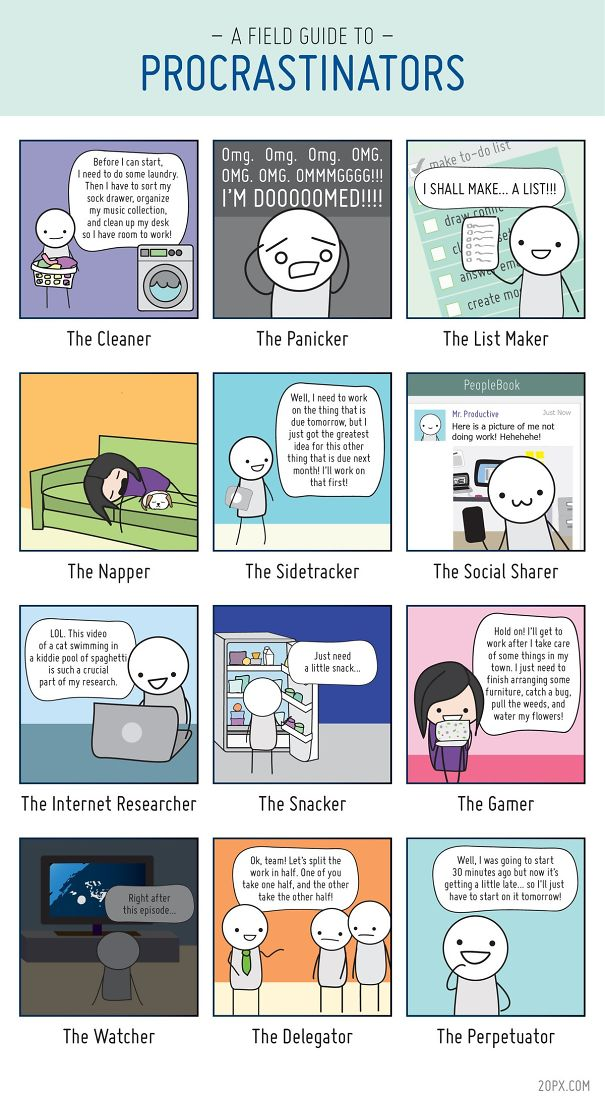 12 Ways To Procrastinate