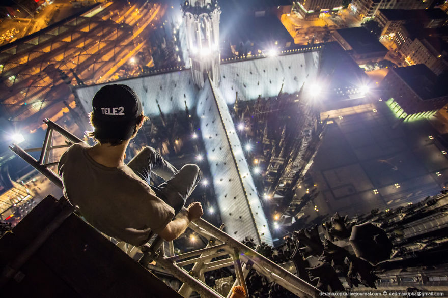 Daredevil Russian Skywalkers Scale Europe's Tallest And Most Famous Buildings (26 pics)