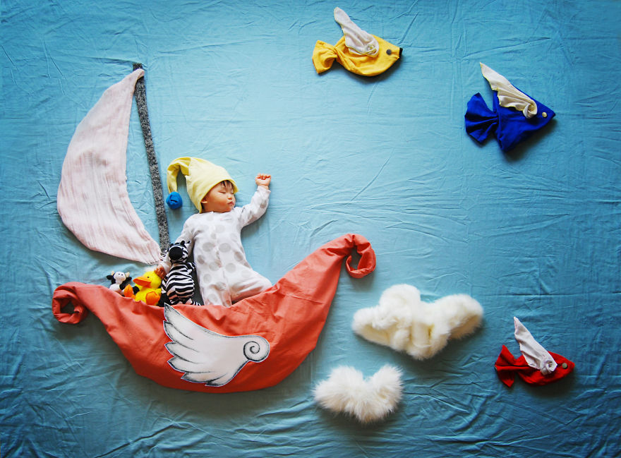 Creative Mom Turns Her Babys Naptime Into Dream Adventures Updated