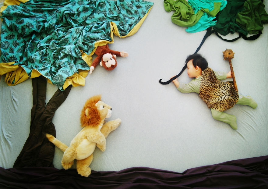 Creative Mom Turns Her Baby's Naptime Into Dream Adventures (Updated)