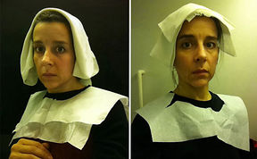 15th Century Flemish Style Portraits Recreated In Airplane Lavatory