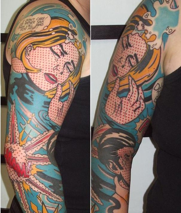 Nostalgic View At Pop Art From Perspective Of Tattoos
