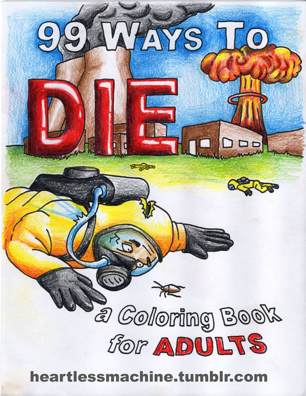 I Drew A 99-page Coloring Book About Death (7 pics)