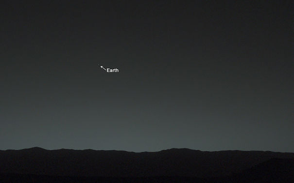 Curiosity Rover's First Photo From Mars Shows Earth As A Tiny Speck Of The Universe