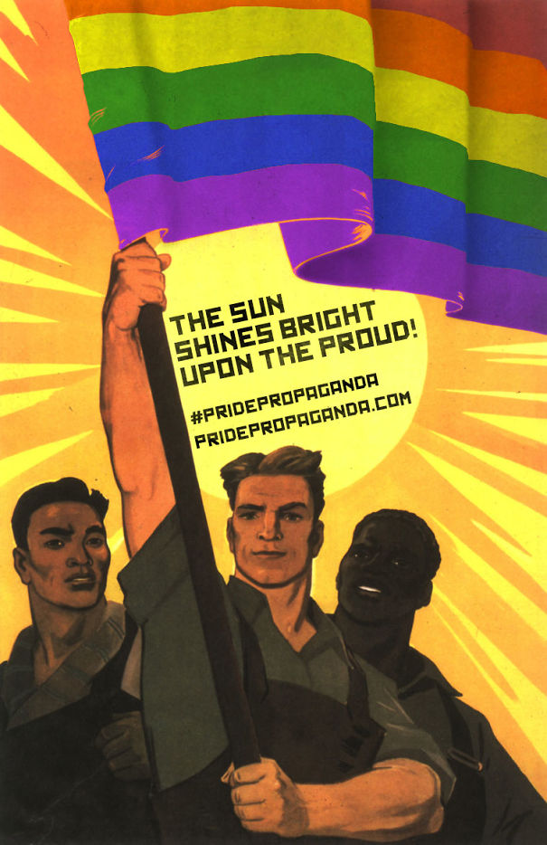 Pride Propaganda Uses Soviet Imagery To Support LGBT Movement In Russia (11 pics)