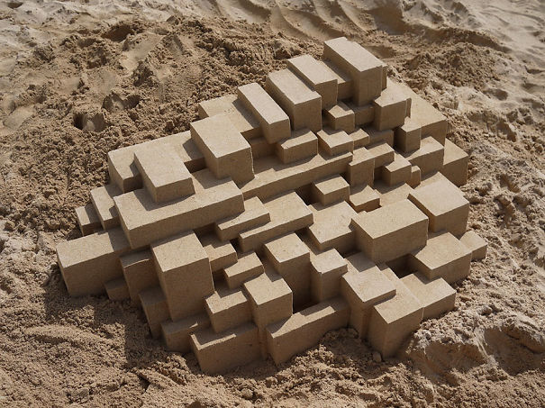 Stunning Geometric Sand Castles By Calvin Seibert (14 pics)