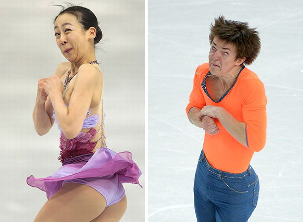The Faces Of Olympic Figure Skaters (18 Pics)