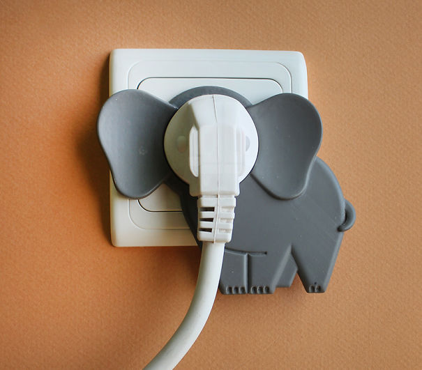 This Little Accessory Will Turn Your Wall Socket Into A Cute Elephant