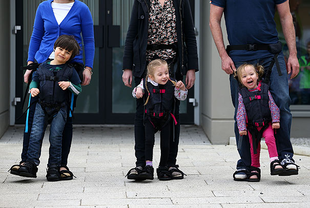 Mother Invents Harness Allowing Parents To Walk With Their Disabled Children