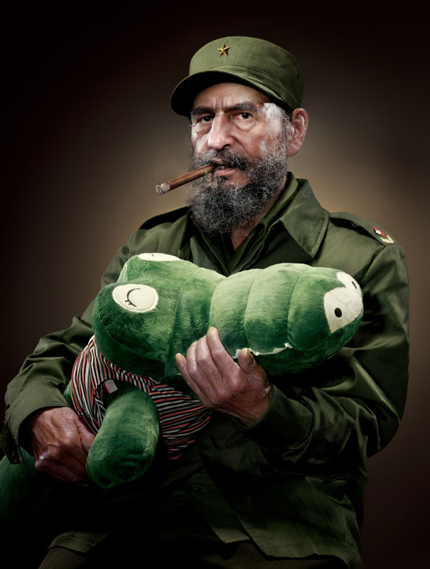 Bizarre Portraits Of Infamous World Leaders Embracing Stuffed Toys