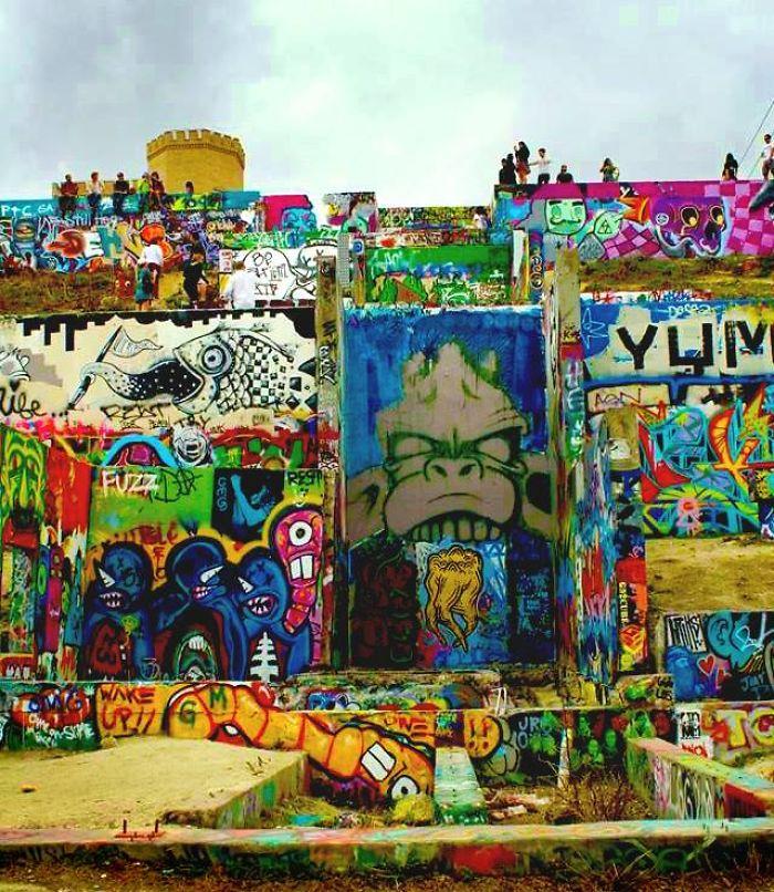Graffiti Wall In Austin, Texas, USA