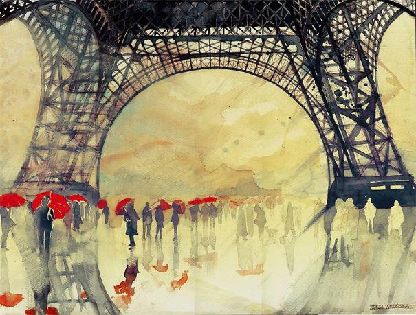 Beautiful Architectural Watercolors By Maja Wronska
