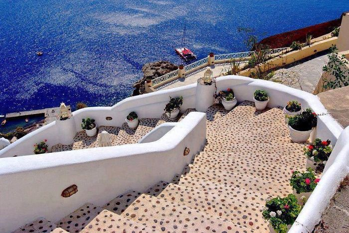 Steps In Santorini, Greece!