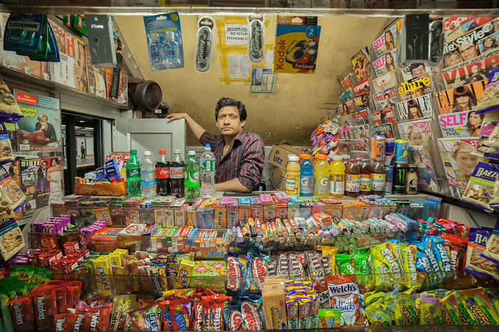 Guardians Of Urban Temples: Vladimir Antaki Takes Stunning Portraits Of Shopkeepers Around The World