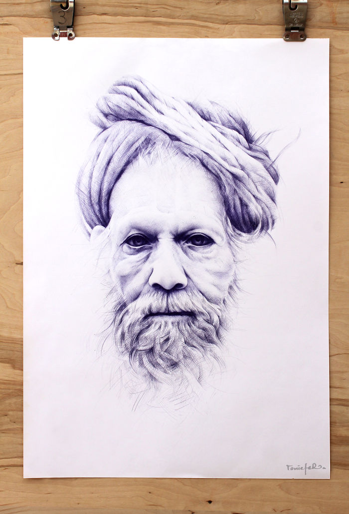 Realistic Ballpoint Pen Portraits By Toni Efer