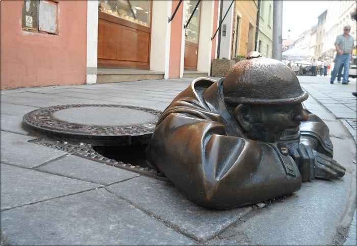 Man At Work, Bratislava Slovakia