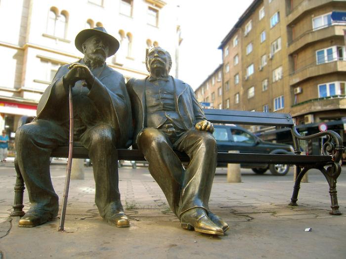 #30 Statue Of The Slaveikovs, Sofia, Bulgaria