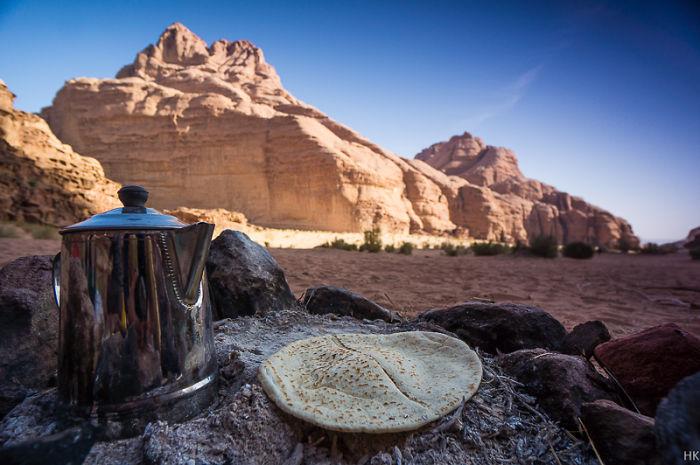 Jordan, Close To Wadi Rum In The Dessert