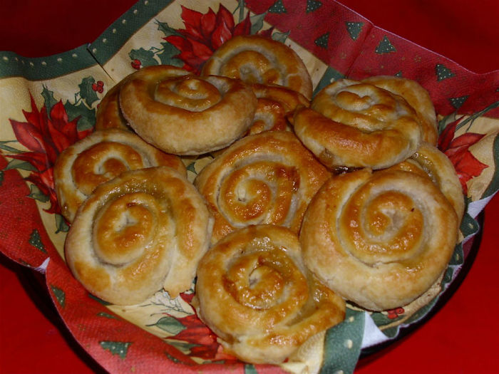 "Bosnian Pie With Chopped Meat Called ""burek""."
