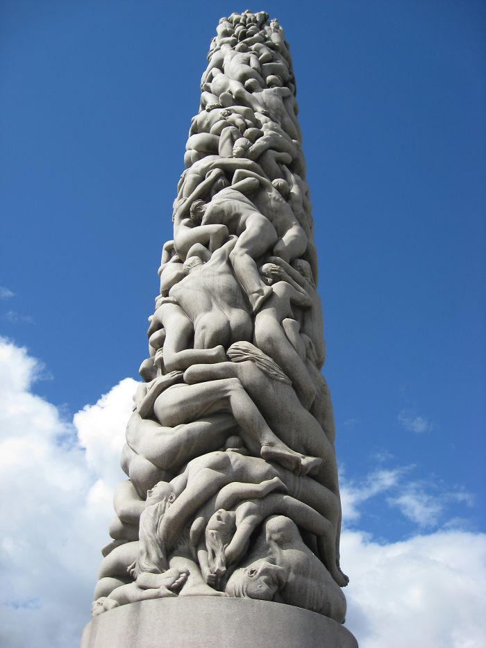 The Monolith By Gustav Vigeland, Frogner Park, Oslo, Norway
