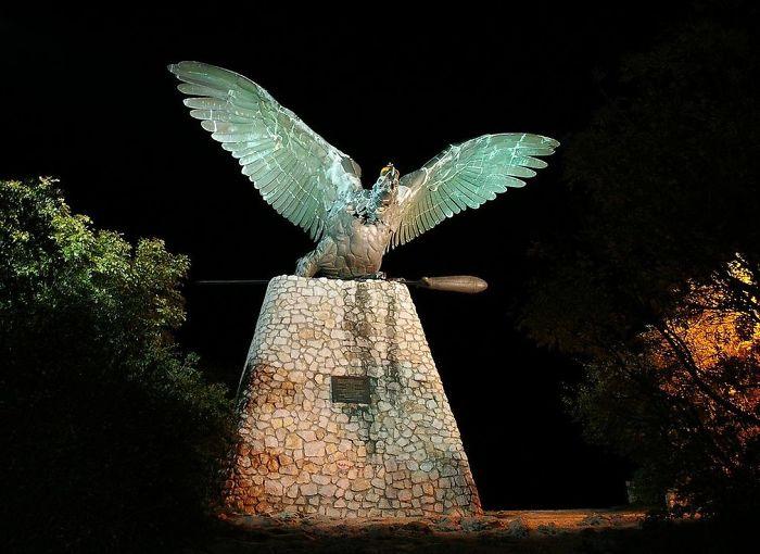 Turul Bird With The Holy Crown Of Hungary, Tatabánya