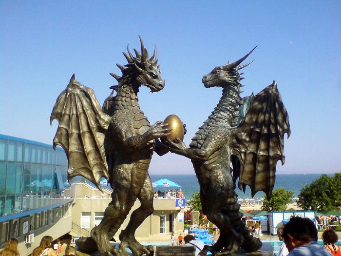 Pair Of Dragons In Love - Varna, Bulgaria