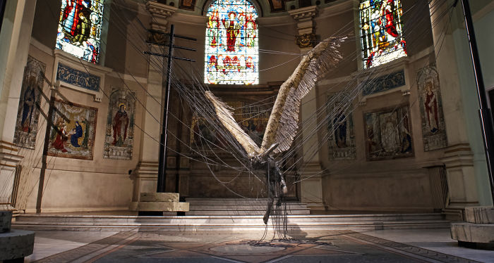 """lucifer"" By Paul Fryer - Holy Trinity Church In Marylebone, Westminster"