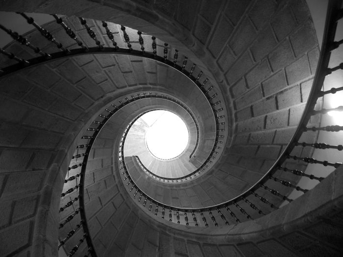 Triple Helical Staircase. Museo Do Pobo Galego. Galiza (spain)