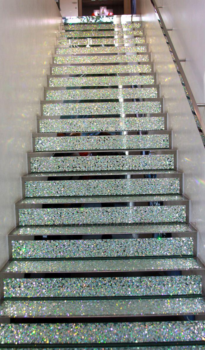 Swarovski Crystal Stairway On The Champs Elysées In Paris, France.