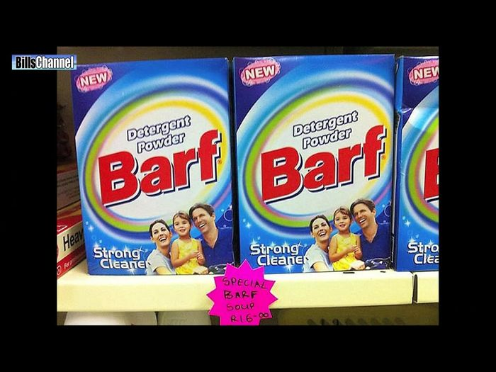 Why Would Anyone Name A Cleaning Product 'barf'?