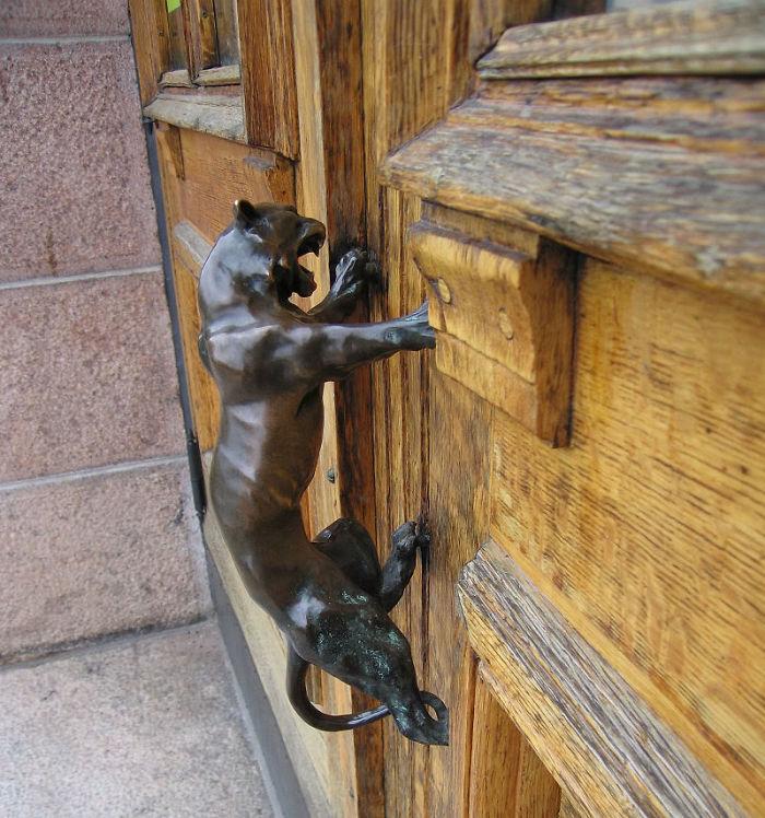 Door Handle In The Old Art Museum (1904) In Turku, Finland