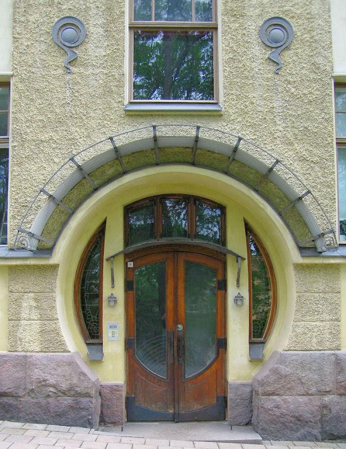 Apartment Building, Jugend, In Turku, Finland