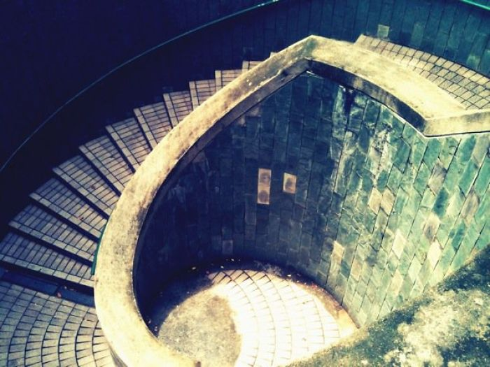 Stairs To Underground Crossing Near Fort Canning, Singapore
