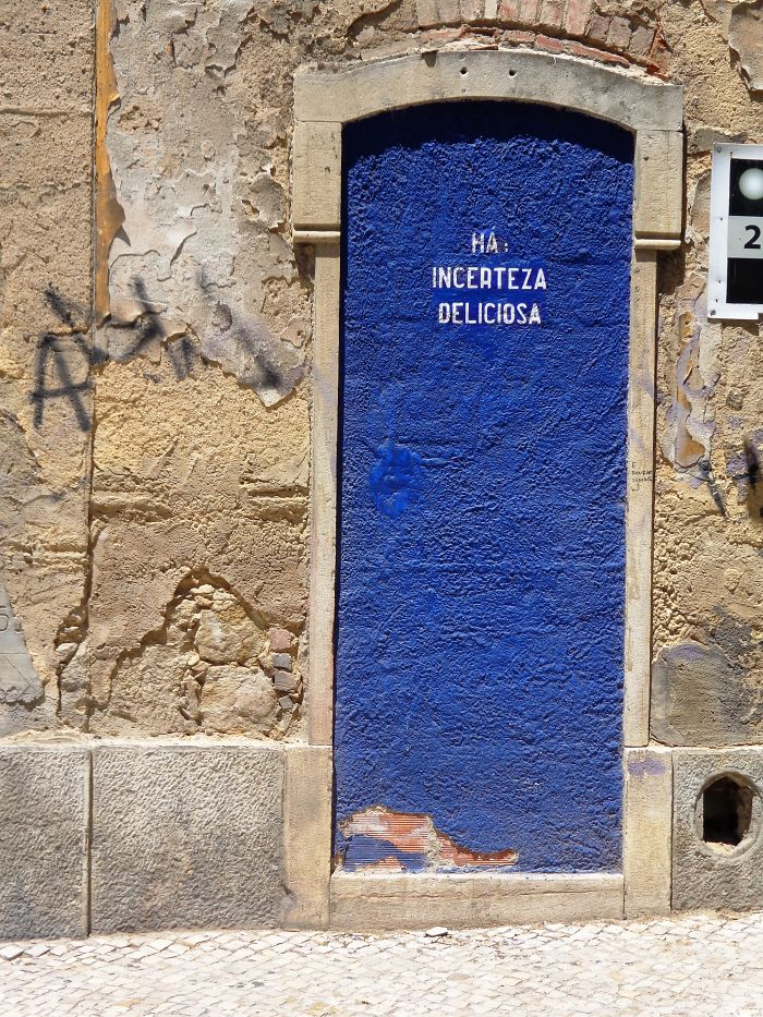 Lisbon – Portugal Blue Door: There Exists A Delicious Incertitude