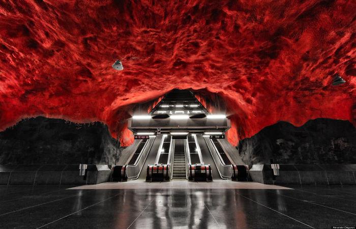Stockholm's Metro Station