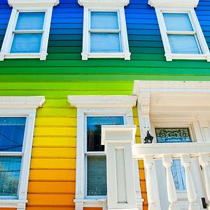 Rainbow House In Usa
