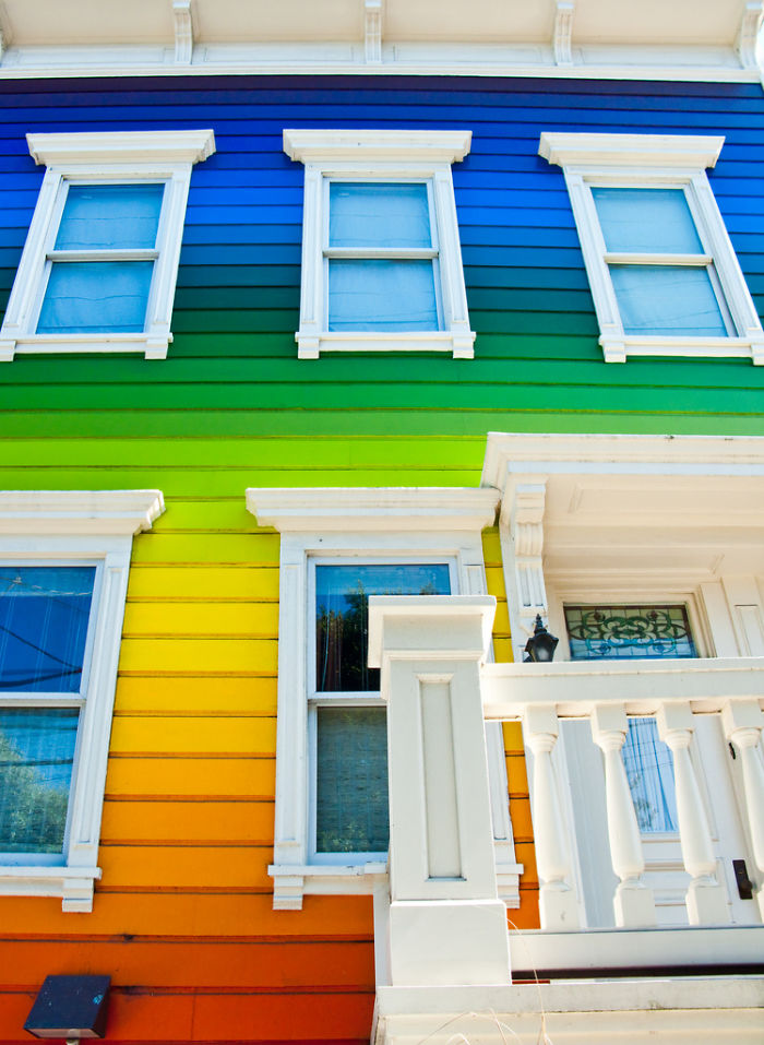 Rainbow House In Usa