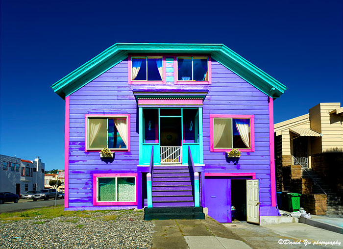 Colorful House In San Francisco