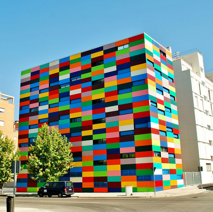 Carabanchel 24 Building In Madrid, Spain.