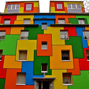 Colorful House In Nippes, Cologne, Germany