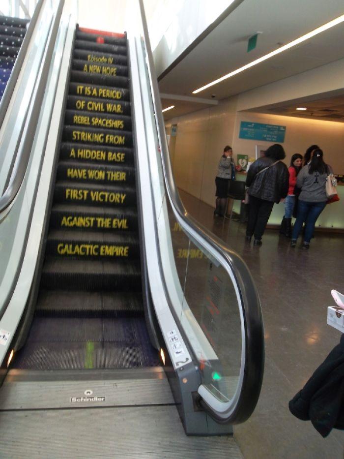 Up-escalator At Tel Aviv's City Hall