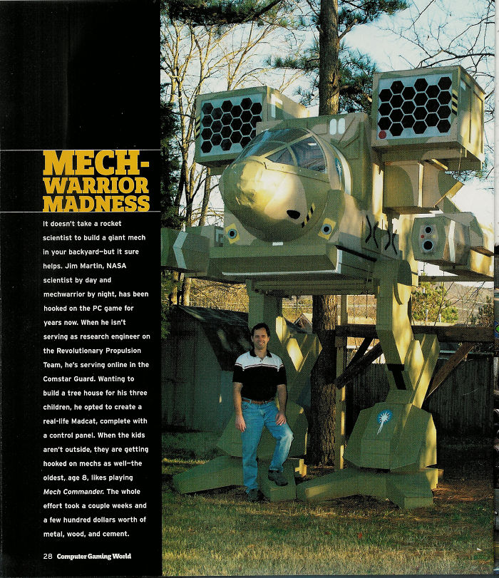 Mech-warrior Tree House In Alabama (my Husband Built This For Our Kids)