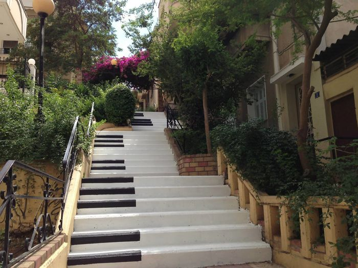 Piano Steps In Pagrati, Athens By Atenistas