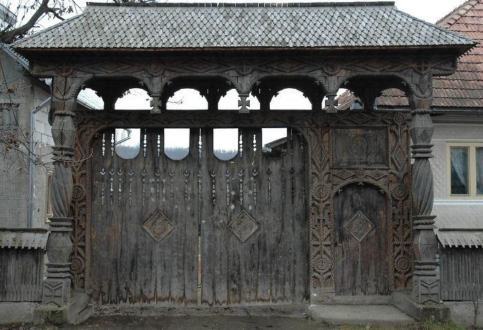 Wooden Gate, Maramures County, Romania