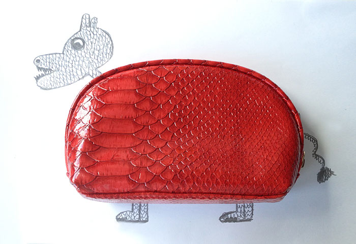 You Asked For It: Make-up Bag As Dinosaur