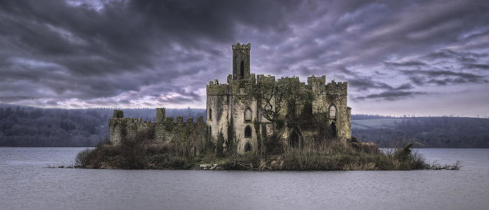 The Ruins On Castle Island, Lough Key, Boyle, County Roscommon, Ireland