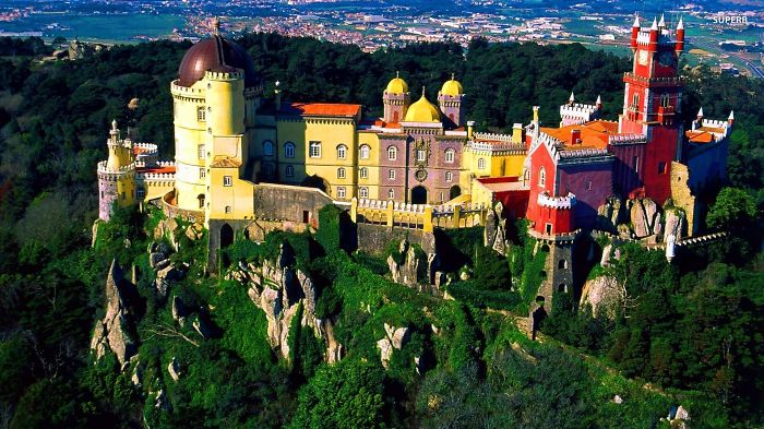 Dali Like Style Nationale Palace In Sintra, Portugal
