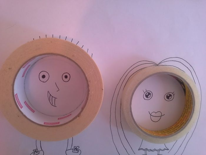 Dad And Me Tape People By Lorniebear