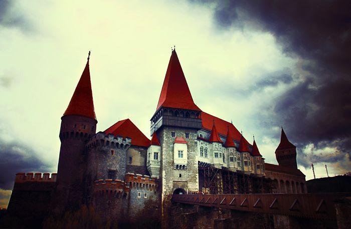 The Corvin Castle In Hunedoara, Romania